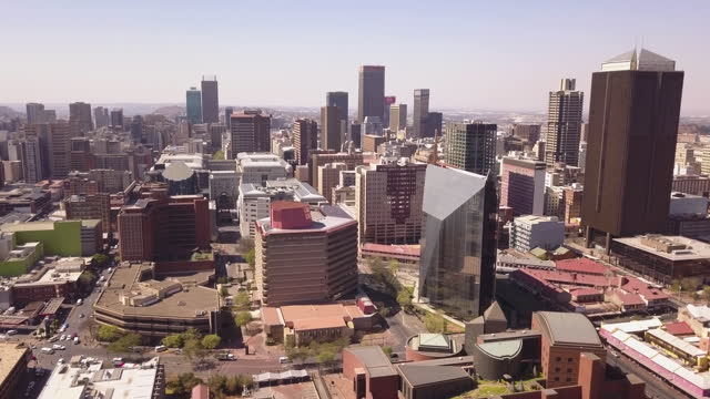 aerial view of johannesburg cbd, south africa - tower stock videos & royalty-free footage