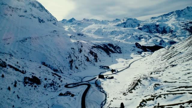 スイス連邦共和国でユリア峠の空撮