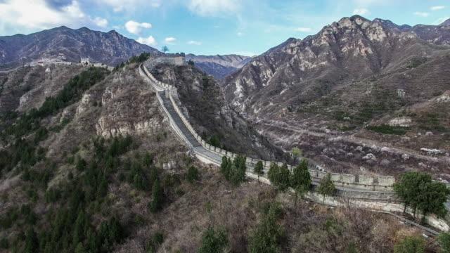 Aerial view of Juyongguan Great Wall, Beijing, China.
