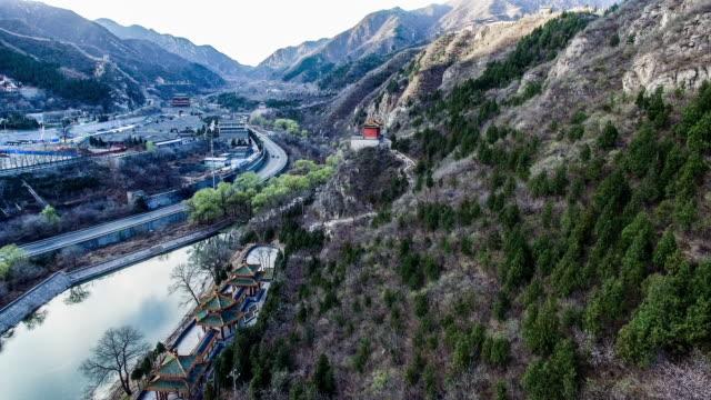 Aerial view of Juyongguan Great Wall, Beijing, China