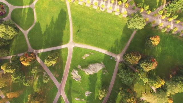 Aerial view of Kaivopuisto Park in autumn - Helsinki, Finland