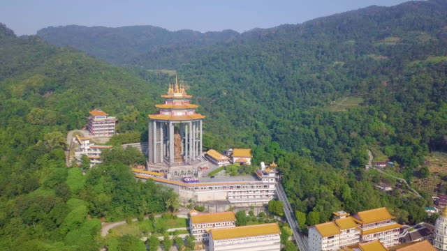 aerial view of kek lok si temple - penang stock videos and b-roll footage