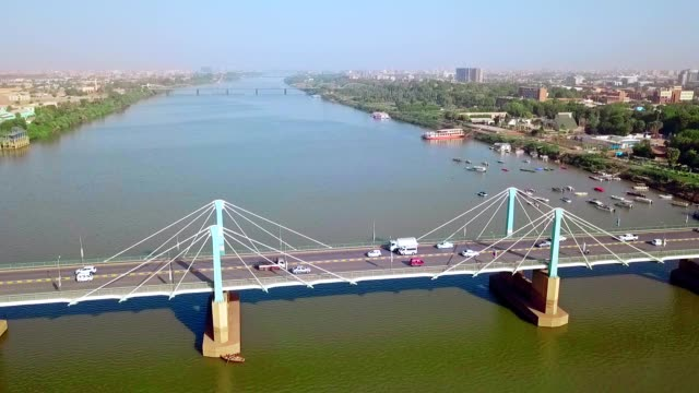 aerial view of khartoum - sudan - east africa stock videos & royalty-free footage