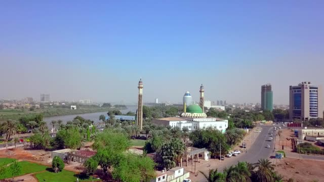aerial view of khartoum - sudan - religion stock videos & royalty-free footage