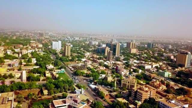 aerial view of khartoum - sudan - north africa stock videos & royalty-free footage