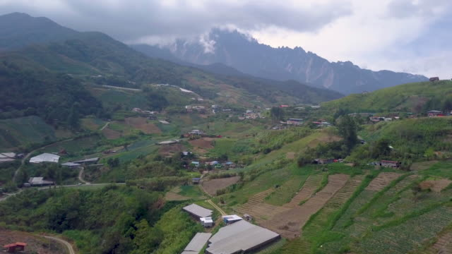 aerial view of kinabalu park , sabah , malaysia - mt kinabalu national park stock videos and b-roll footage