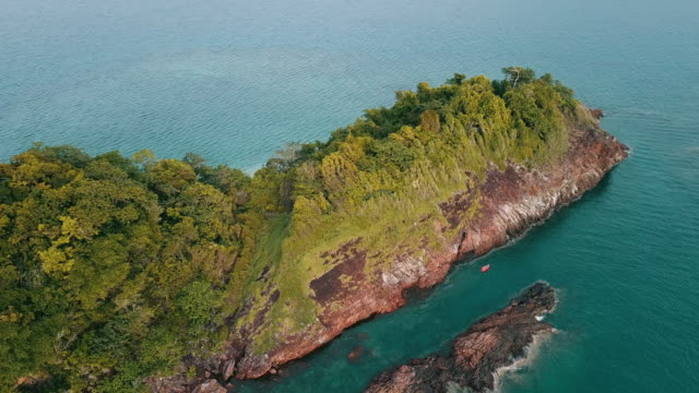 aerial view of koh chang in trat. thailand. - ko phangan stock videos and b-roll footage