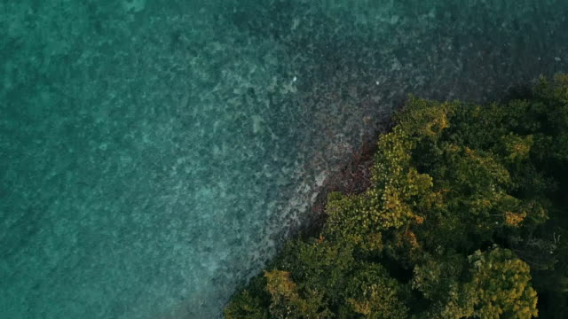 aerial view of koh chang in trat. thailand. - south pacific ocean stock videos & royalty-free footage
