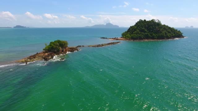 Aerial View of Koh mook beachin the Andaman Sea, Thailand