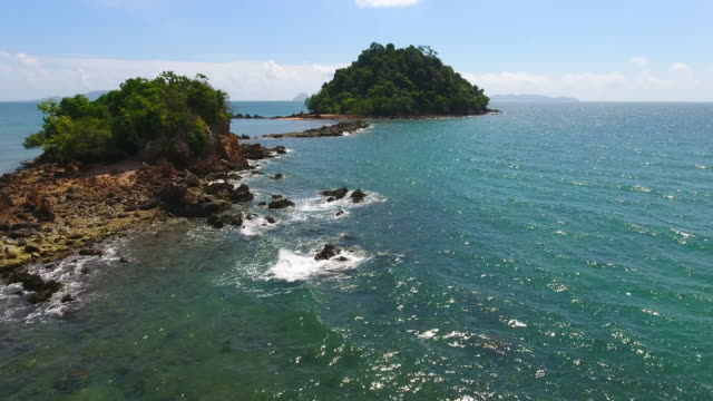 Luchtfoto uitzicht van Koh mook beachin van de Andaman Zee, Thailand