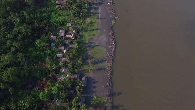 aerial view of kopar village on the sepik river, papua new guinea - papua stock videos and b-roll footage