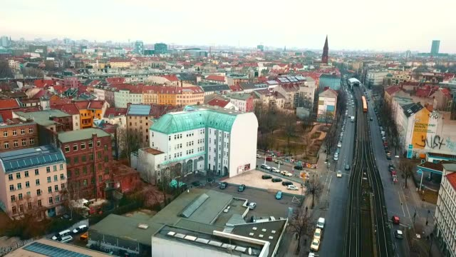 aerial view of kreuzberg - germany - alexanderplatz stock videos & royalty-free footage