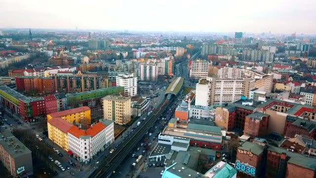 aerial view of kreuzberg - germany - tracking shot stock videos & royalty-free footage