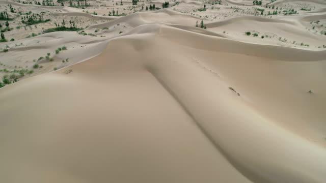 Aerial View of Kubuqi Desert in Ordos in China