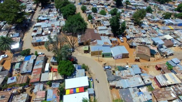 aerial view of kya sands informal settlement, johannesburg, south africa - ハウテング州点の映像素材/bロール