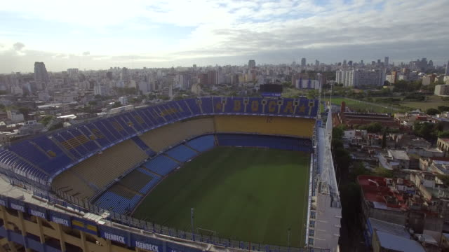 Aerial view of La Bombonera, home of BOCA juniors football
