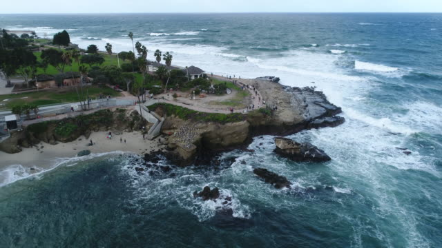 Aerial view of La Jolla beach