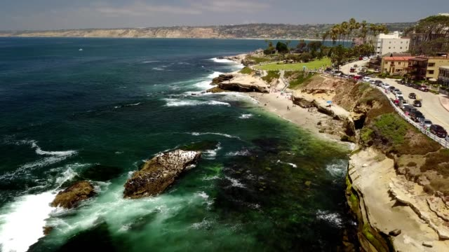 Aerial view of La Jolla Cove in San Diego California