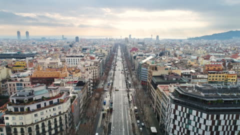 aerial view of la pedrera - barcelona spain stock videos & royalty-free footage