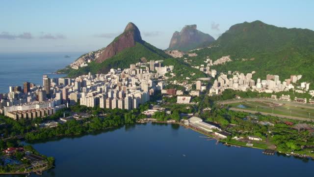 Aerial view of Lagoa Rodrigo de Freitas at Rio de janeiro, Brazil