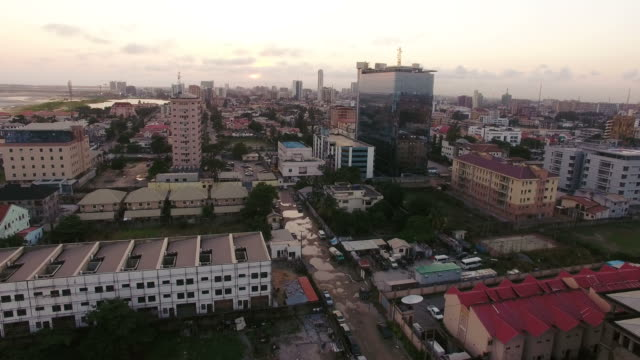 aerial view of lagos, nigeria - nigeria stock videos and b-roll footage