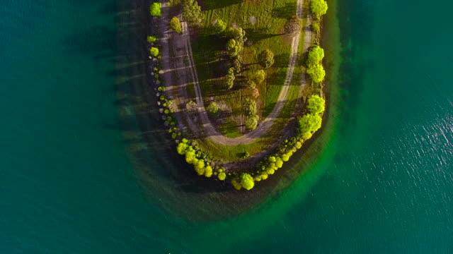 Aerial view of Lake Dunstan, New Zealand.