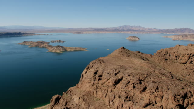 Aerial view of Lake Mead Reservoir Las Vegas