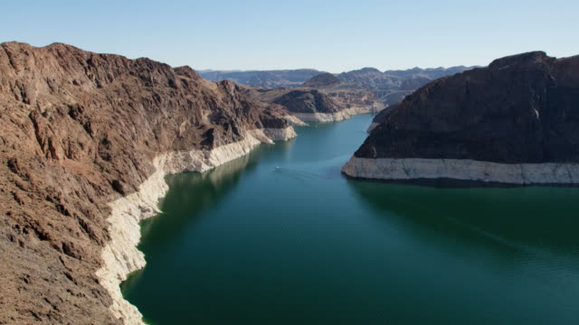 aerial view of lake mead reservoir las vegas - river colorado stock videos & royalty-free footage