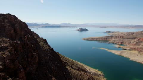 aerial view of lake mead reservoir las vegas - nevada stock videos & royalty-free footage