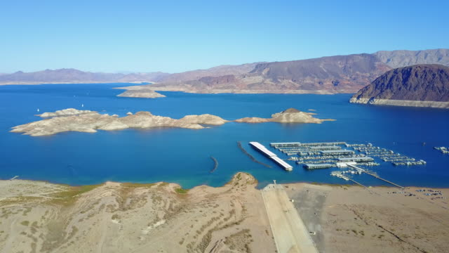 aerial view of lake mead - lake mead video stock e b–roll
