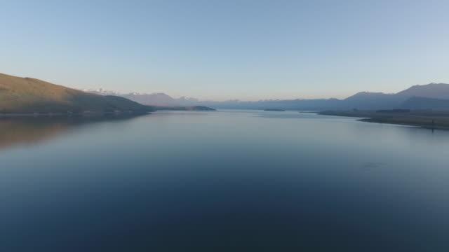 Aerial view of lake tekapo