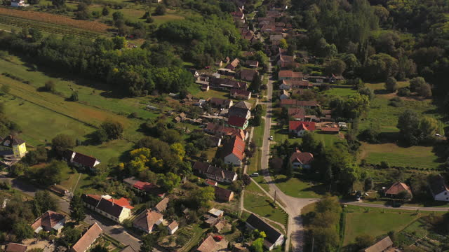 aerial view of landscape and towns around lake balaton, hungary - hungary stock videos & royalty-free footage