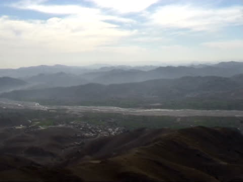 ws aerial view of landscape waziristan federally administered tribal areas pakistan audio - geographical locations stock videos & royalty-free footage
