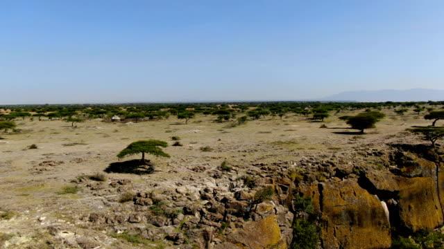 aerial view of langano lake/ ethiopia - アフリカの角点の映像素材/bロール