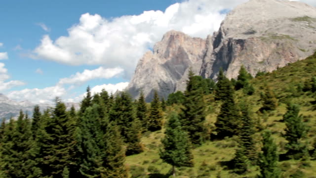 aerial view of langkofel and seiser alm - italy - langkofel stock videos & royalty-free footage