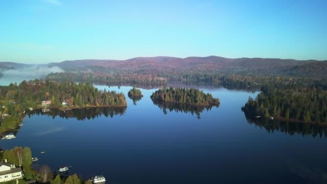 ローレンシアの空撮の風景, ケベック州, カナダ - 寒帯林点の映像素材/bロール