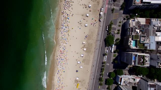 Aerial view of Leblon beach, Rio De Janeiro