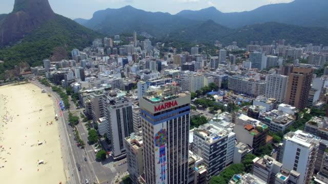 Aerial view of Leblon beach Rio De Janeiro