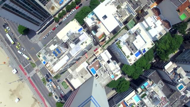 aerial view of leblon beach rio de janeiro - レブロン点の映像素材/bロール