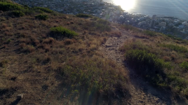 aerial view of lion's head mountain and surroundings - lion's head mountain stock videos and b-roll footage