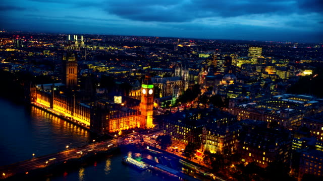 aerial view of london big ben - london england stock videos & royalty-free footage