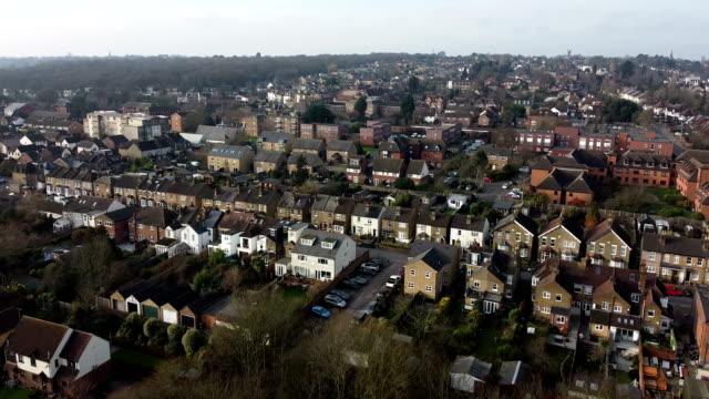 aerial view of london, england, uk - royal albert hall stock videos & royalty-free footage