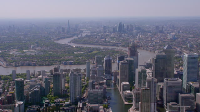 Aerial View of London, UK. 4K