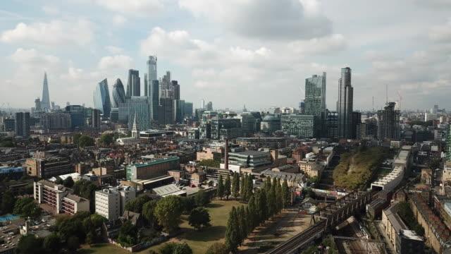 ロンドンの航空写真 - イーストロンドン点の映像素材/bロール