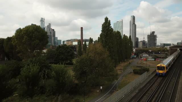 ロンドンの空中写真 - イーストロンドン点の映像素材/bロール