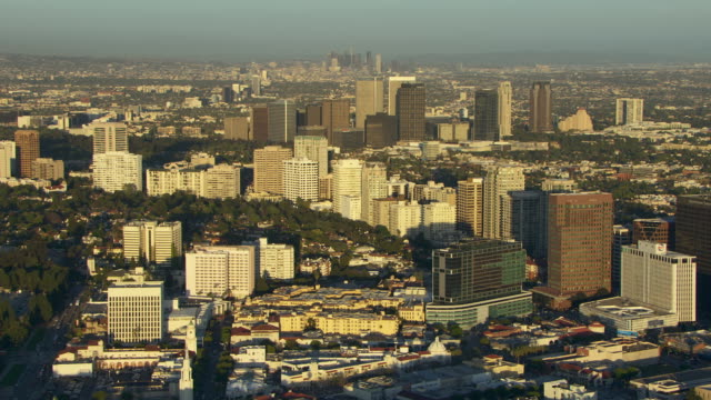 Aerial view of Los Angeles at Westwood Village.