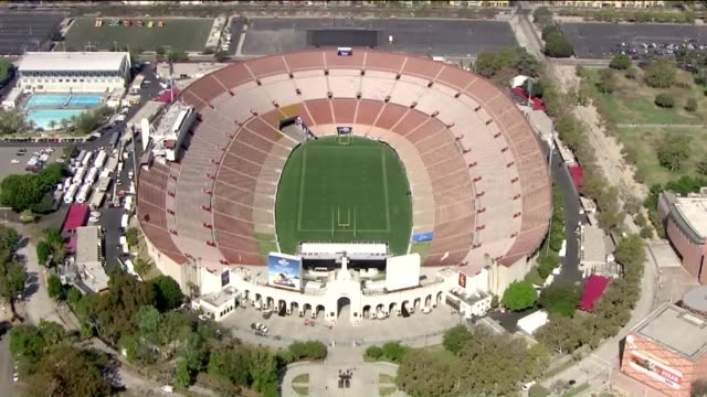 KTLA Aerial View of Los Angeles Coliseum