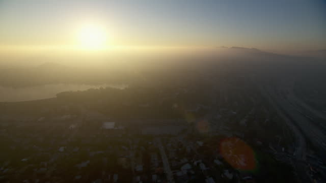 Aerial view of Los Angeles, from Silver Lake to Atwater Village.
