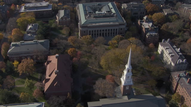 aerial view of lowell house in harvard university, cambridge, massachusetts, united states of america - harvard university stock videos & royalty-free footage