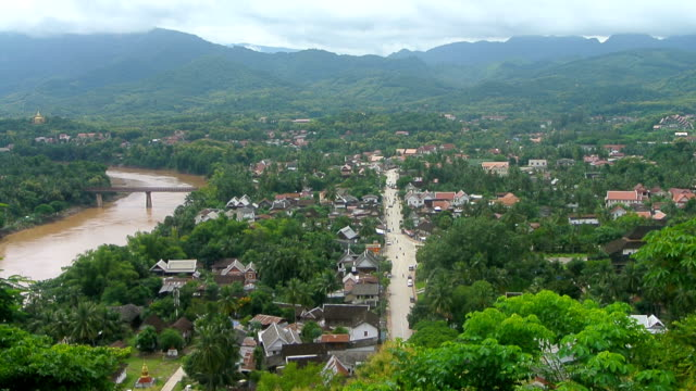 Aerial view of Luang Prabang city